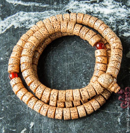 Для украшений ручной работы. Ярмарка Мастеров - ручная работа. Купить Тибетские бежевые бусины-диски из семян бодхи. Handmade.