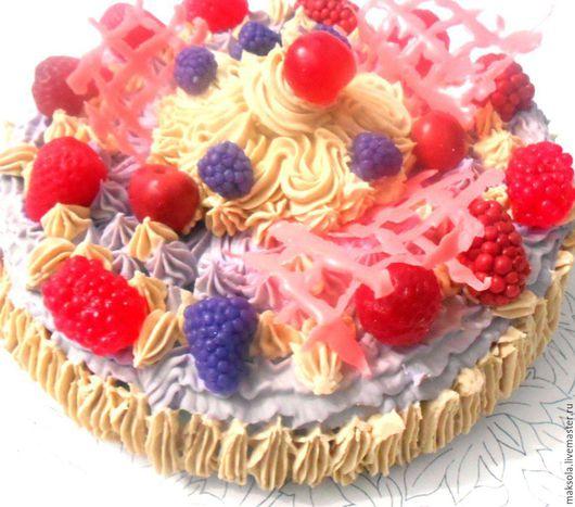 """Мыло ручной работы. Ярмарка Мастеров - ручная работа. Купить Натуральное мыло """"Торт"""". Handmade. Разноцветный, мыло торт"""
