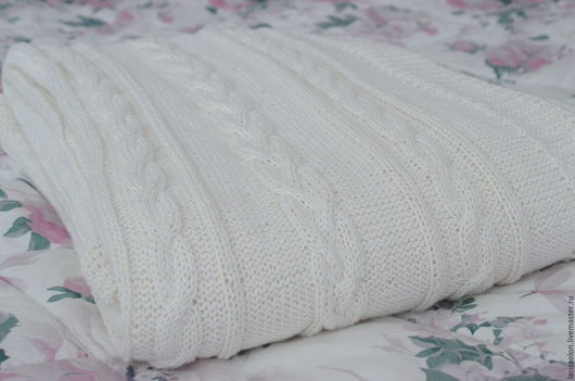 Текстиль, ковры ручной работы. Ярмарка Мастеров - ручная работа. Купить Белый плед. Handmade. Белый, ручная работа