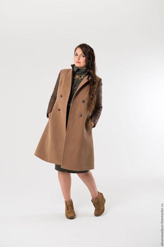 Верхняя одежда ручной работы. Ярмарка Мастеров - ручная работа. Купить Пальто зимнее Mocca. Handmade. Разноцветный, кашемир