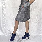 Одежда handmade. Livemaster - original item Skirt felted Silver Creek.. Handmade.