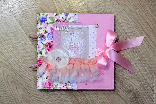Подарки для новорожденных, ручной работы. Ярмарка Мастеров - ручная работа. Купить Фотоальбом для девочки. Handmade. Розовый, альбом для девочки