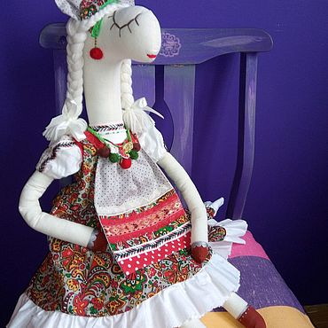 Куклы и игрушки ручной работы. Ярмарка Мастеров - ручная работа Лошадка сплюша в русском стиле. Handmade.
