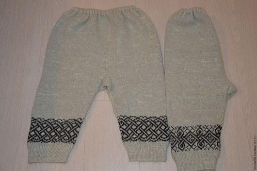 Брюки, шорты ручной работы. Ярмарка Мастеров - ручная работа. Купить Панталоны шерстяные женские. Handmade. Серый, шерстяные перчатки