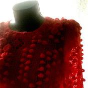 Одежда handmade. Livemaster - original item Cardigan Red poppy. Handmade.