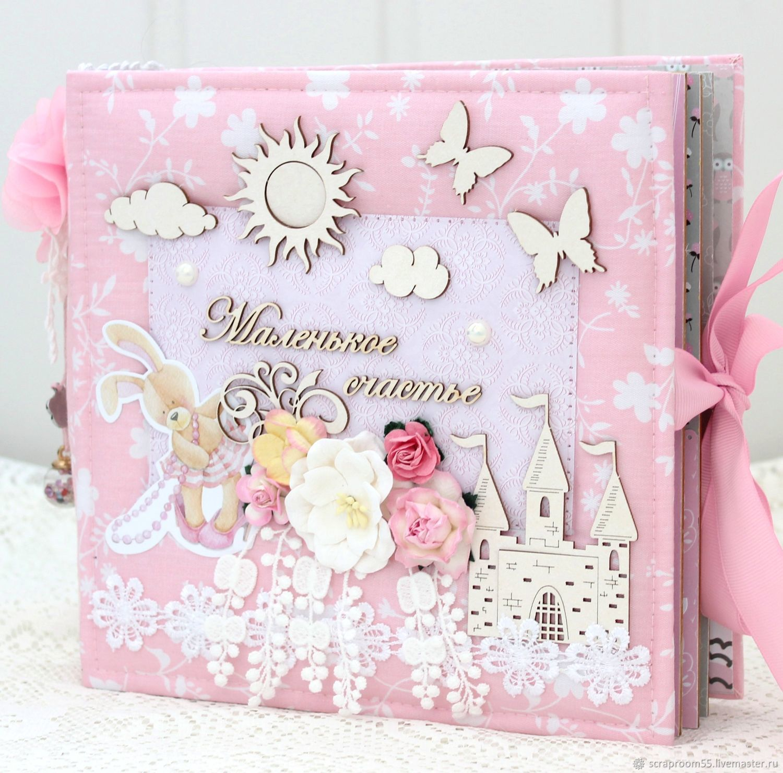 Детский альбом ручной работы для девочки на первый год жизни, Фотоальбомы, Днепр,  Фото №1