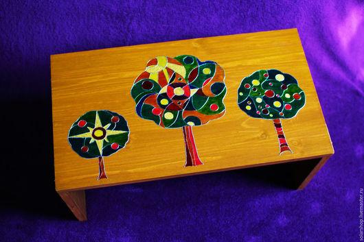 """Мебель ручной работы. Ярмарка Мастеров - ручная работа. Купить Столик для завтрака """"3 дерева"""". Handmade. Комбинированный, стол из дерева"""