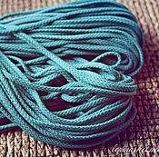 Материалы для творчества ручной работы. Ярмарка Мастеров - ручная работа 2861L шнур х/б морская волна. Handmade.