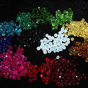 Материалы для творчества handmade. Livemaster - original item Faceted glass beads, 6h4 mm, 10 grams, about 55 pieces. Handmade.