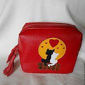 Сумки и аксессуары handmade. Livemaster - original item cosmetic bag genuine leather