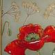 Картины цветов ручной работы. Заказать панно Мак керамика. Сказка своими руками Горина Ксения. Ярмарка Мастеров. оранжевый