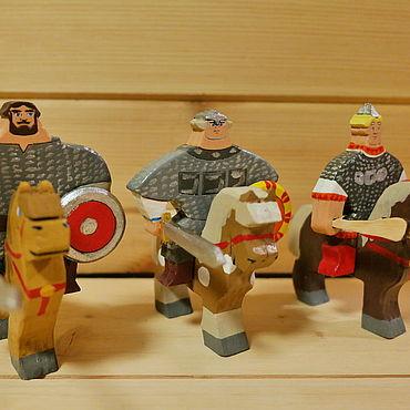 Dolls & toys handmade. Livemaster - original item Ilya, Dobrynya and Alyosha. Handmade.