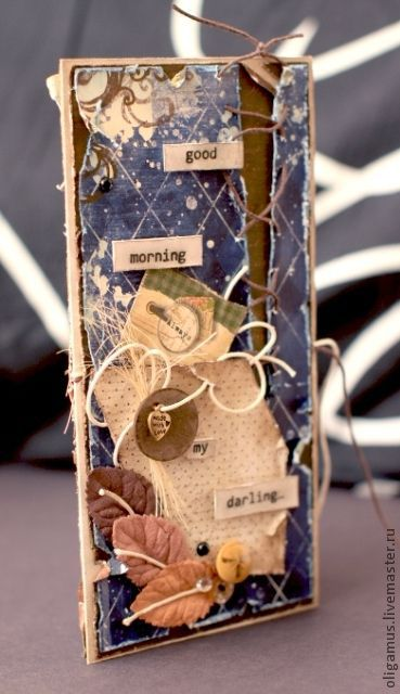 Открытки на все случаи жизни ручной работы. Ярмарка Мастеров - ручная работа. Купить Открытка - конверт С добрым утром!. Handmade.