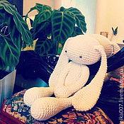 Куклы и игрушки ручной работы. Ярмарка Мастеров - ручная работа Зайка вязанный. Handmade.