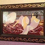 """Картины и панно ручной работы. Ярмарка Мастеров - ручная работа Картина на стекле """"Нежность"""". Handmade."""