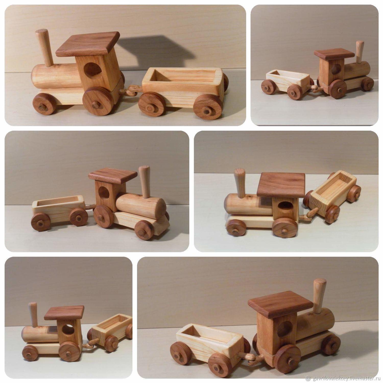Техника, роботы, транспорт: Паровозик деревянный, Мягкие игрушки, Королев,  Фото №1
