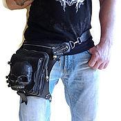 Classic Bag handmade. Livemaster - original item Bag with skulls. Leather backpack. Exclusive. Skull bag. Handmade.