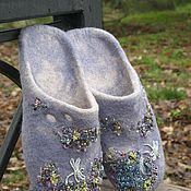 """Обувь ручной работы. Ярмарка Мастеров - ручная работа Тапочки валяные """"Стрекозы"""". Handmade."""