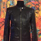Куртки ручной работы. Ярмарка Мастеров - ручная работа Демисезонная куртка в чёрном цвете. Handmade.