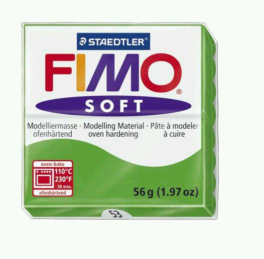 Для украшений ручной работы. Ярмарка Мастеров - ручная работа. Купить Тропический зеленый (53) - Fimo Soft. Handmade.