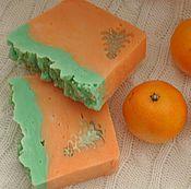 Косметика ручной работы. Ярмарка Мастеров - ручная работа «Мандаринка» натуральное мыло ручной работы. Handmade.