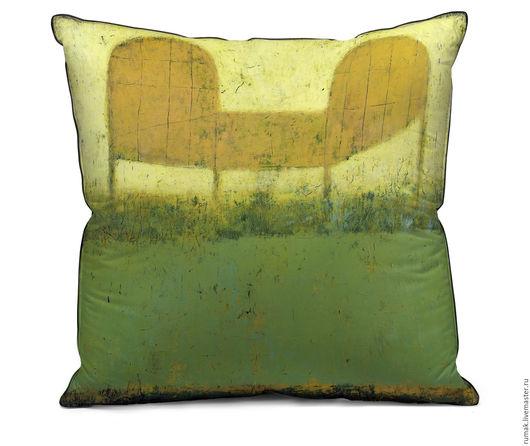 """Текстиль, ковры ручной работы. Ярмарка Мастеров - ручная работа. Купить наволочка """"кроватка"""". Handmade. Зеленый, наволочка, лен, кровать"""