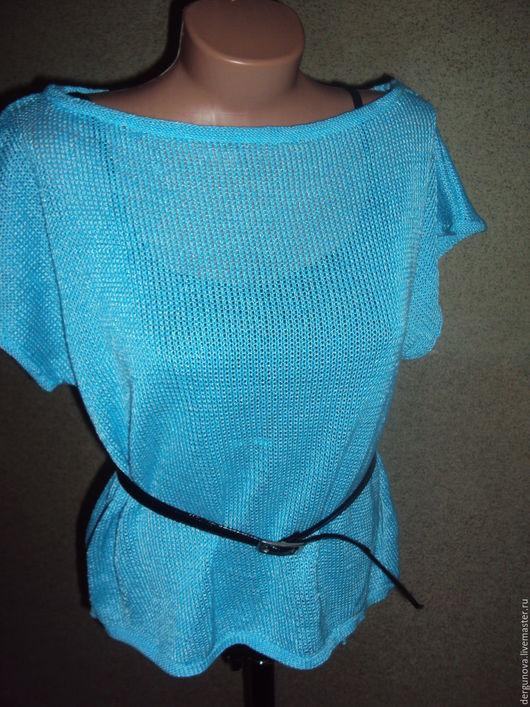 Кофты и свитера ручной работы. Ярмарка Мастеров - ручная работа. Купить Пуловер. Handmade. Бирюзовый, Машинное вязание