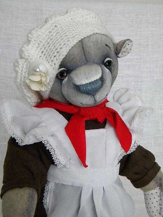 Мишки Тедди ручной работы. Ярмарка Мастеров - ручная работа. Купить Мишка-школьница. Handmade. Мишка, хлопок 100%