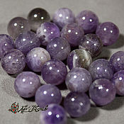 Материалы для творчества handmade. Livemaster - original item Amethyst, smooth bead, 8 mm (natural stone). Handmade.