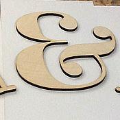 Свадебный салон ручной работы. Ярмарка Мастеров - ручная работа Буквы для декорирования праздников. Handmade.