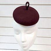 handmade. Livemaster - original item Pill hat with pimple. The color of the wine. Handmade.