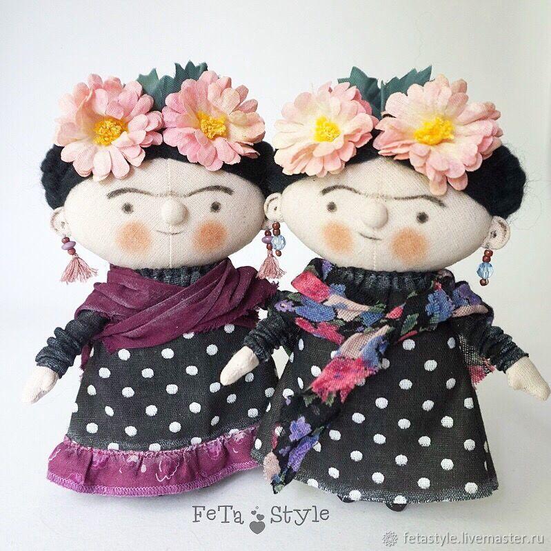 Коллекционные куклы ручной работы. Ярмарка Мастеров - ручная работа. Купить Фрида Мексиканская художница Кукла текстильная авторская. Handmade.