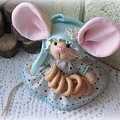 Тильда Зверята ручной работы. Ярмарка Мастеров - ручная работа Мышка малышка с большими ушами в колпачке. Handmade.