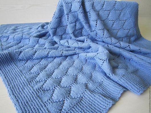Пледы и одеяла ручной работы. Ярмарка Мастеров - ручная работа. Купить Плед детский Голубое небо. Handmade. Плед детский