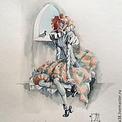 Картины и панно ручной работы. Ярмарка Мастеров - ручная работа Дель-арте акварели. Handmade.