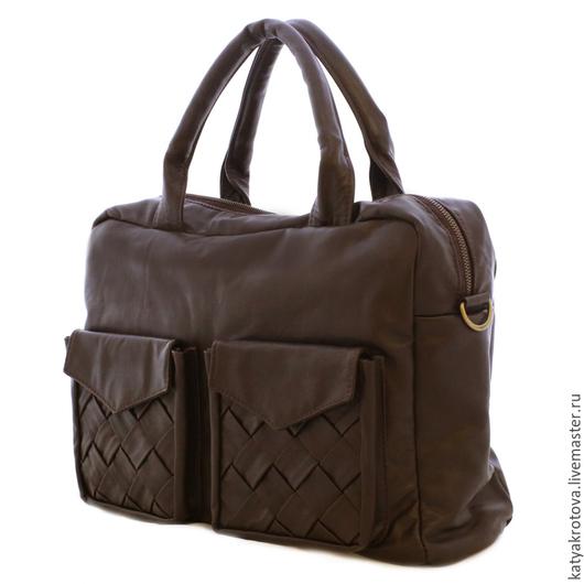 Мужские сумки ручной работы. Ярмарка Мастеров - ручная работа. Купить Мужская сумка Фрэнк темно-коричневый. Handmade. Коричневый