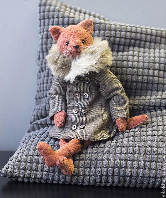 Мишки Тедди ручной работы. Ярмарка Мастеров - ручная работа. Купить Котик в пальто. Handmade. Коралловый, коты ручной работы