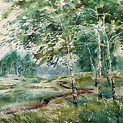 Картины и панно handmade. Livemaster - original item Watercolor painting wind Noise. Summer landscape.. Handmade.