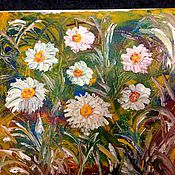 Картины и панно handmade. Livemaster - original item Daisies in a meadow.oil. Handmade.