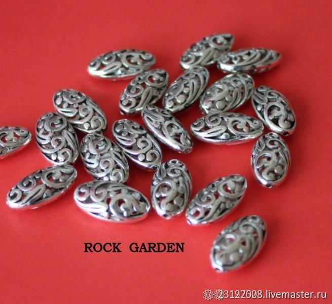 BEAD 18h10mm antique silver, Beads1, St. Petersburg,  Фото №1