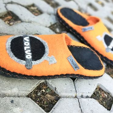 Footwear handmade. Livemaster - original item Men`s Slippers