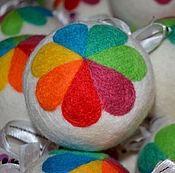 Сувениры и подарки ручной работы. Ярмарка Мастеров - ручная работа Елочные шары. Handmade.