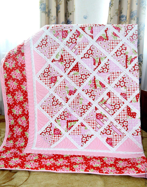 Красивое одеяло пэчворк