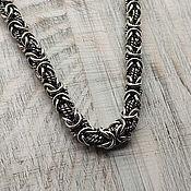 Украшения handmade. Livemaster - original item chain cardinal. 925 sterling silver and Black. Weight 62gr. art. .1096200. Handmade.