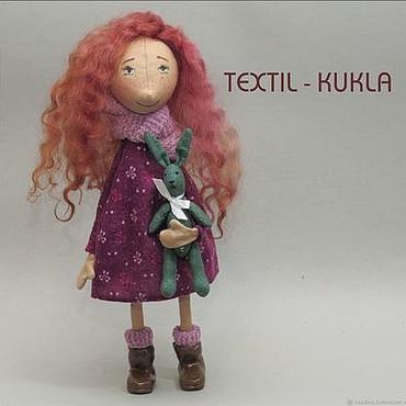 Куклы и игрушки ручной работы. Ярмарка Мастеров - ручная работа КЛАРА - текстильная кукла. Handmade.