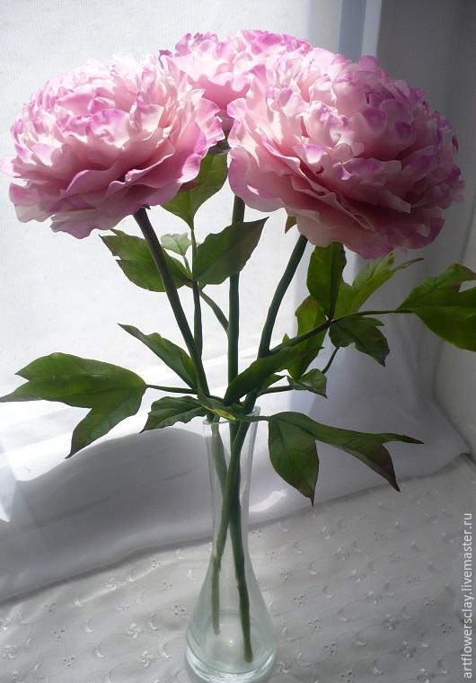 Цветы ручной работы. Ярмарка Мастеров - ручная работа. Купить Пионы из полимерной глины. Handmade. Розовый