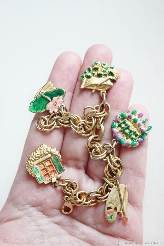 Винтаж: Винтажный чарм-браслет от MFA, Браслеты винтажные, Саратов,  Фото №1