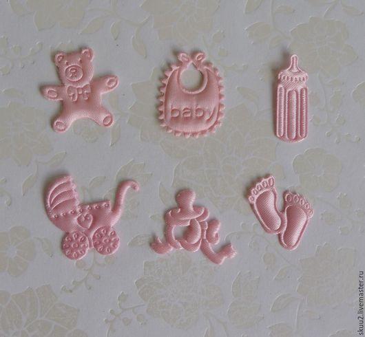 Открытки и скрапбукинг ручной работы. Ярмарка Мастеров - ручная работа. Купить Набор атласной вырубки розовый для девочки. Handmade.