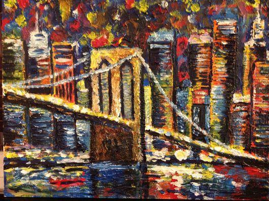 Город ручной работы. Ярмарка Мастеров - ручная работа. Купить Нью-Йорк, Нью-Йорк!. Handmade. Картина для интерьера