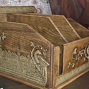 Сувениры и подарки handmade. Livemaster - original item Organizer, Desk for papers and folders, gift for a man. Handmade.